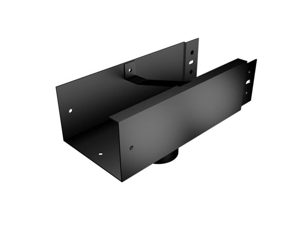 150x150mm Joggle Joint Box Gutter 63mm Dia Outlet