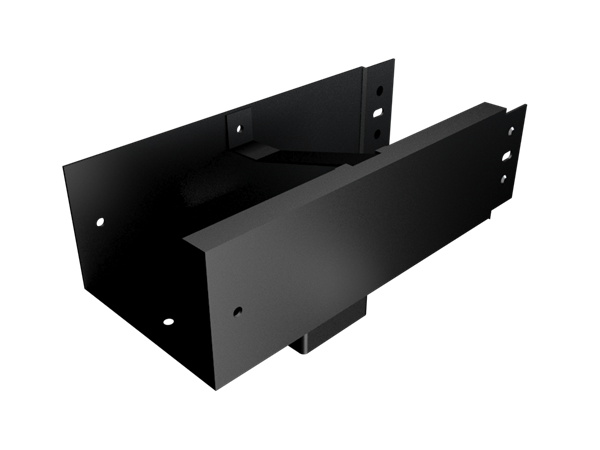 125x100mm Joggle Joint Box Gutter 76mm Sq Outlet