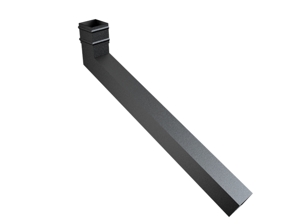 76mm Sq (Sq Edge) Cast Collar Extended Bend 501-750mm