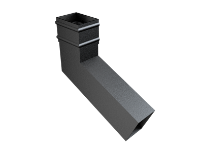 101x76mm Rect (Sq Edge) Cast Collar Extended Bend upto 250mm