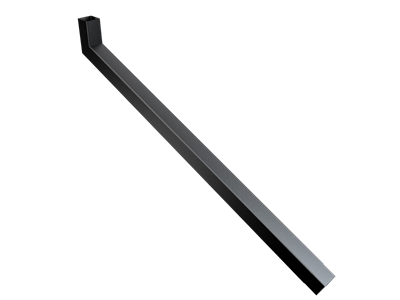 76mm Sq (Rad Edge) F-Joint Extended Bend 1251-1500mm