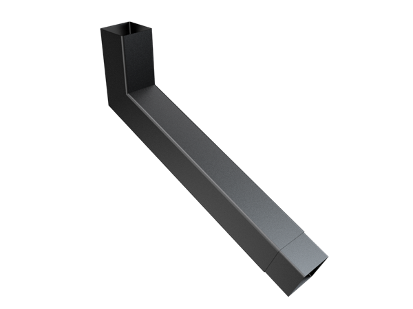 76mm Sq (Rad Edge) F-Joint Extended Bend 251-500mm