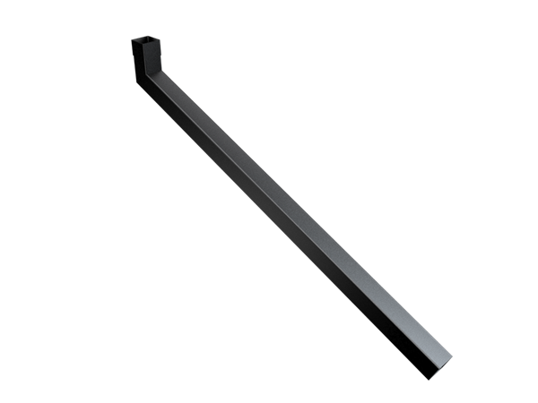 63mm Sq (Rad Edge) Swaged Extended Bend 1251-1500mm
