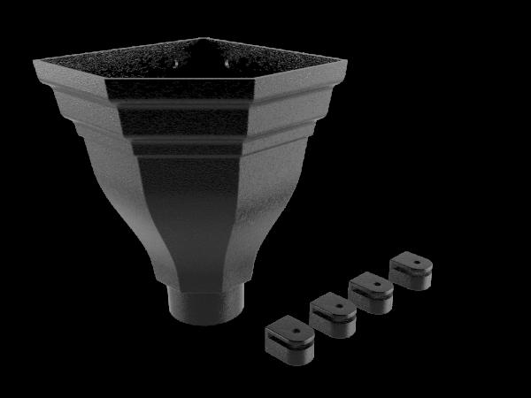 Merus Large Cast Corner Hopper - 101mm Dia Outlet Flushfit