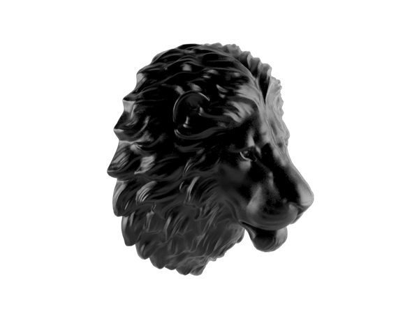 Cast Lions Head (Small)