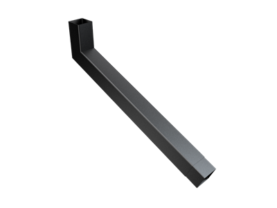 76mm Sq (Rad Edge) F-Joint Extended Bend 501-750mm