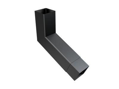 76mm Sq (Rad Edge) F-Joint Extended Bend Up To 250mm